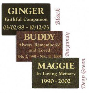 granite pet burial markers