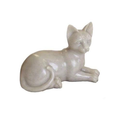 Faithful Feline Sitting Pet Memorial Urn