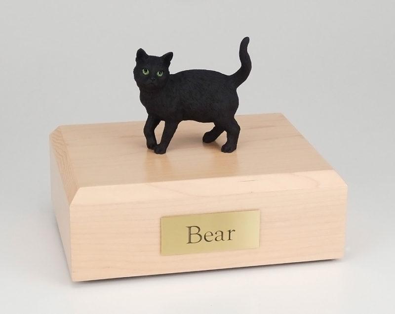 Black Tabby Figurine Urn